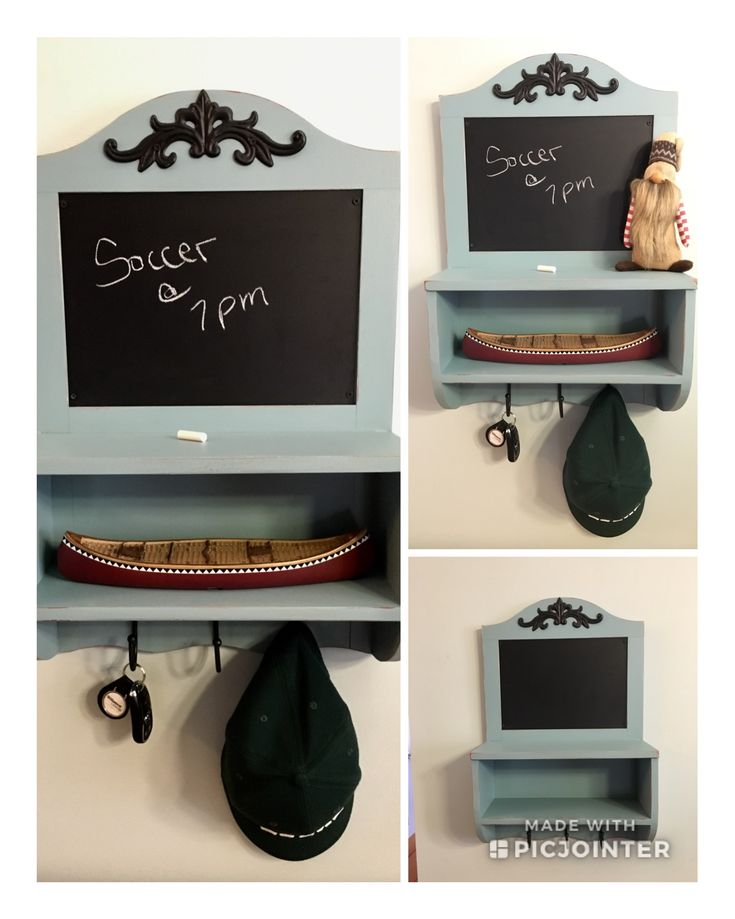 Cute solid wood message /key center