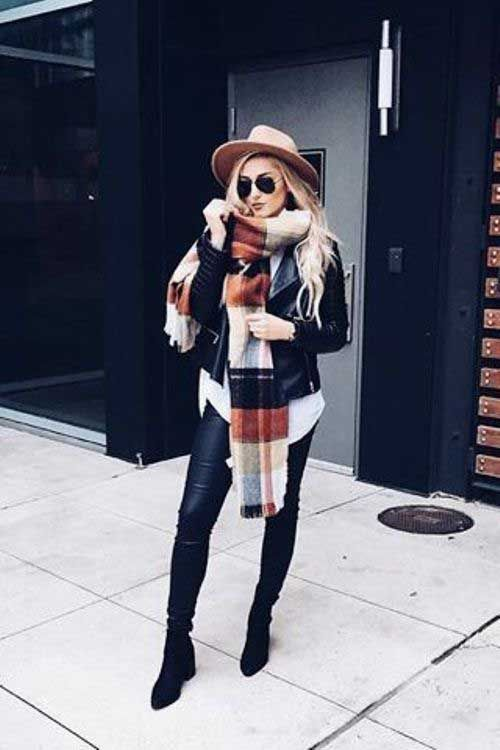plaid-scarf-outfit-with-jacket- ootd, Fashion forward outfits to wear this fall