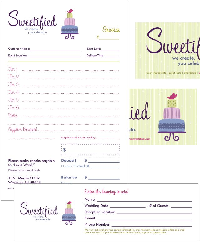 Free Invoice Templates Picture Bakery Ideas Pinterest