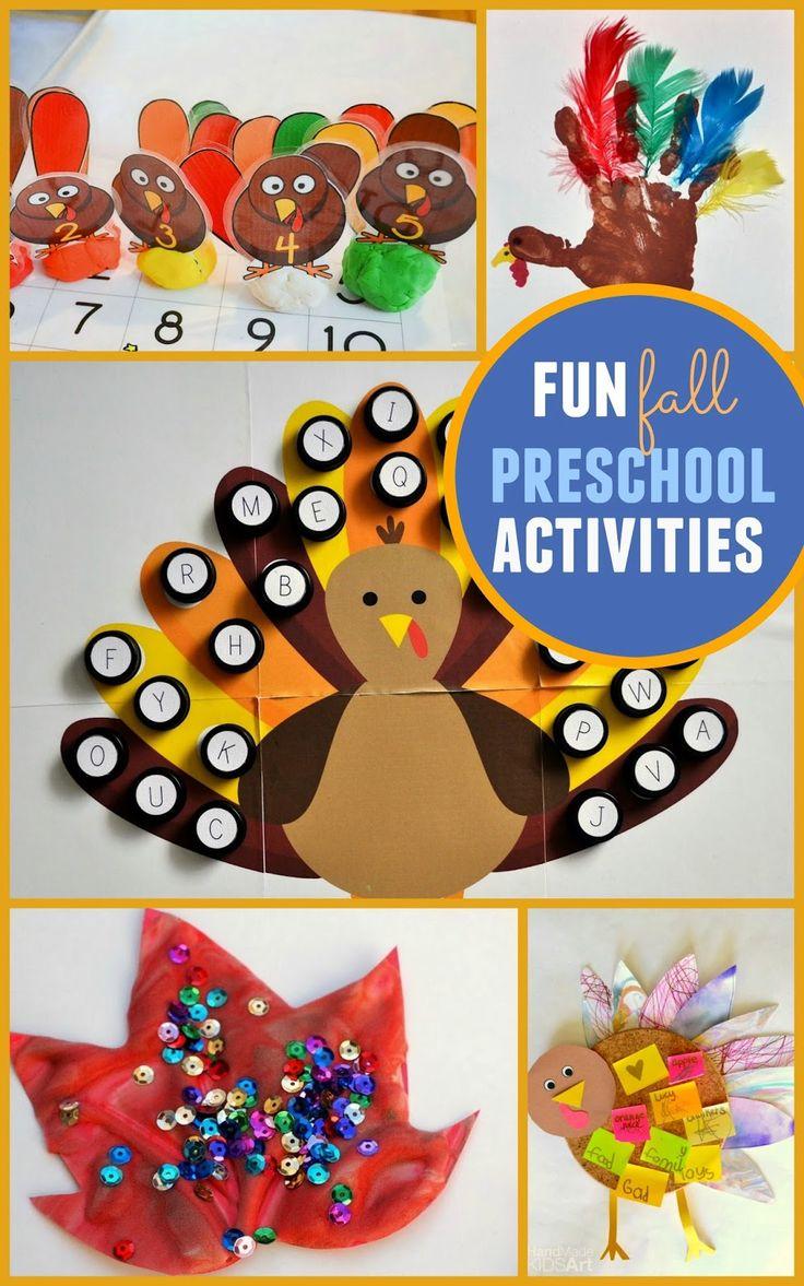 5 fun and easy Fall Preschool Activities to do with your kids! #creativepreschoolers
