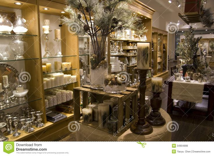 Home decor store stock photo. Image of lighting, shelves