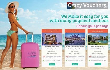 Crazy Vouchers ( @crazyvouchers ) - An online booking site providing Bali's best deal on all type of accommodation with an easy and secure payment system.