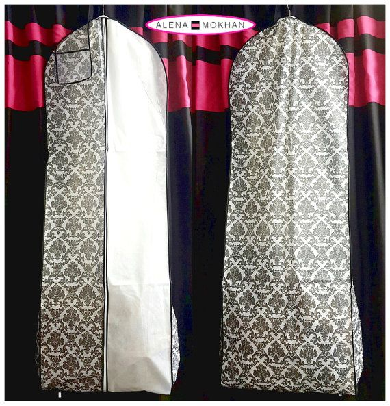 This specially designed high quality garment bag with 10 gusset accommodates the natural flair of most gowns with the extra room needed for the gowns train. Great for wedding gowns, bridesmaid gowns, prom dresses, pageant gowns, as well as the long term storage of leathers, dresses,