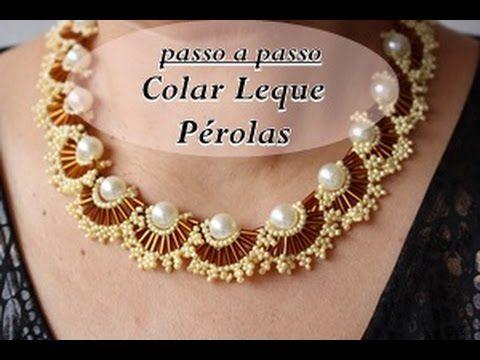 NM Bijoux - Colar Leque Pérolas - passo a passo. Link download: http://www.getlinkyoutube.com/watch?v=fbWhIOu_7iw