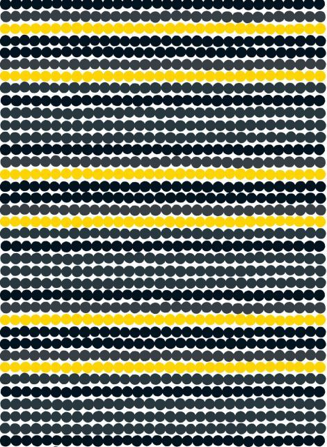 Räsymatto - paksu puuvilla (valko, harmaa, musta,kelta)  Kankaat, Puuvillakankaat   Marimekko