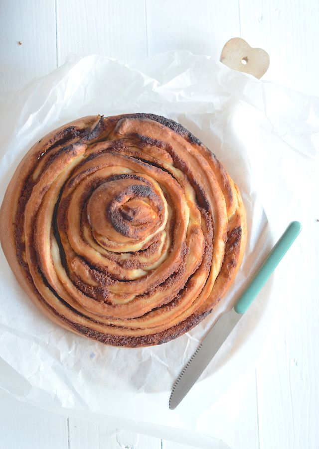 Dit is het lekkerste dat ik ooit geproefd heb, een giant cinnamon roll. Yum!