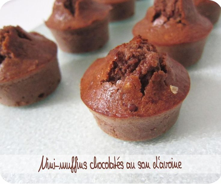 Muffins chocolatés au son d'avoine
