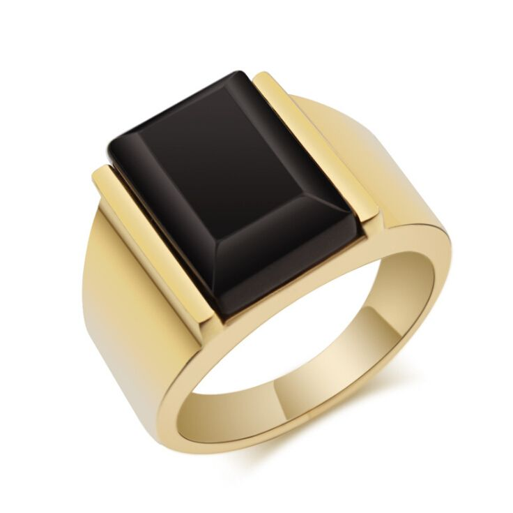 GOLD AND BLACK MENS RING - Google Search
