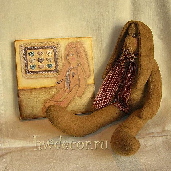 Комплект Примитивная кукла Мистер Кролик с собственным портретом:)