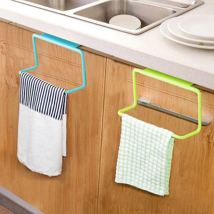 Best Door Tea Towel Rack Bar Hanging Holder Rail Organizer 400 x 300