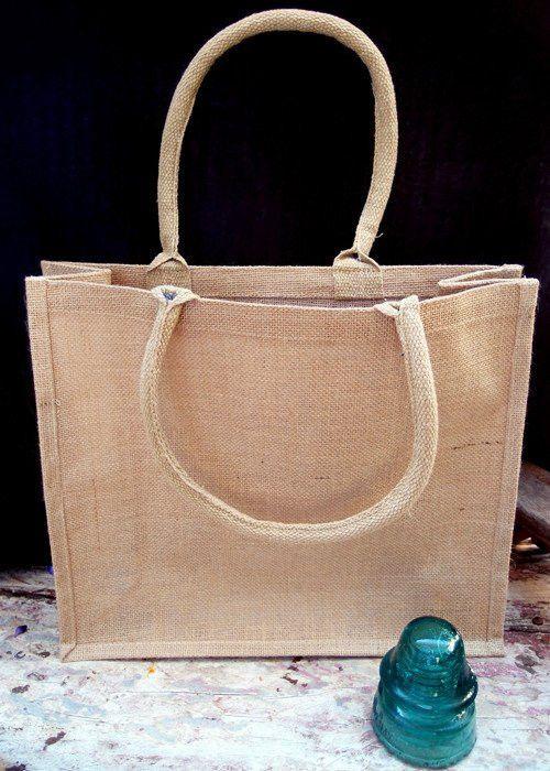 Reusable Burlap Tote Bag | Shopping Jute Bag TJ889