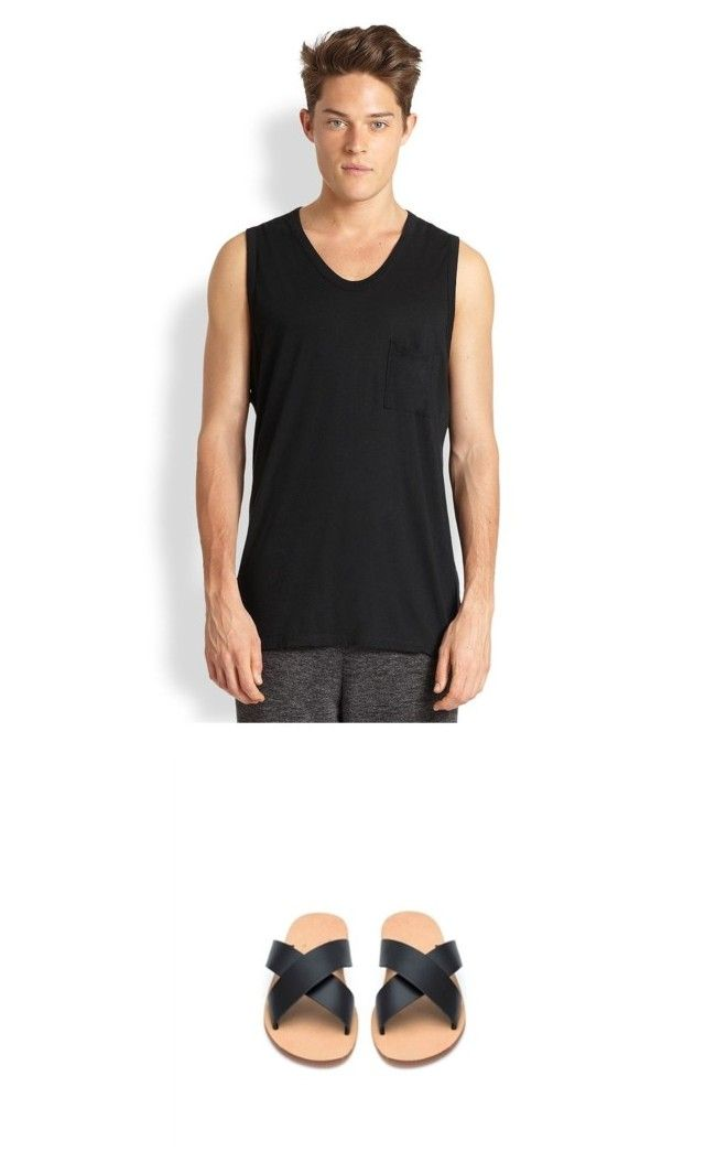 """""""When Kito1981 meets Alexander Wang"""" by kito1981 on Polyvore featuring T By Alexander Wang, men's fashion, menswear, AlexanderWang, ootd, leathersandals and Kito1981"""