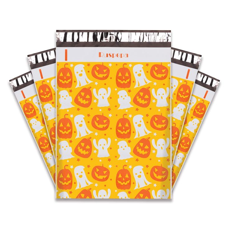 10x13 Halloween Poly Mailers Qty 10 Pumpkin Pattern Poly Mailers Perfect Gift Wrapping