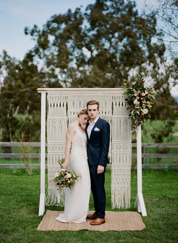 Country Wedding With Macrame Backdrop | Qlix Photography