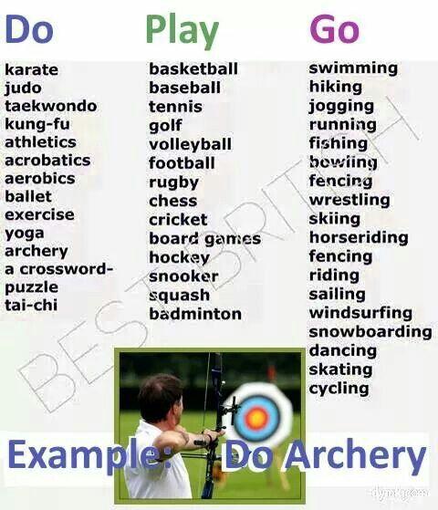 Verbs and sports | Real English(R)