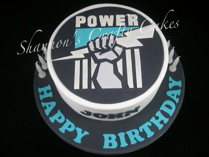 14 best images about afl port power cakes and other party on birthday cake in adelaide