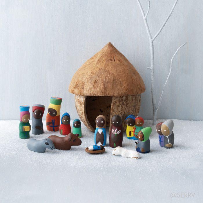 Nativities - Haitian Clay Nativity   SERRV