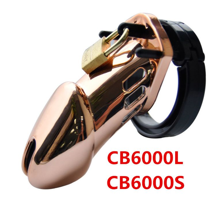 First Rose Gold Designer Male Chastity Cage lavish and luxurish Standard CB6000 CB6000S Chastity Device with 5 Penis Rings G208