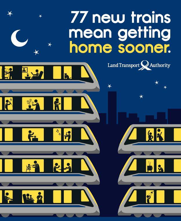 LTA Singapore Train Ad...Get home sooner