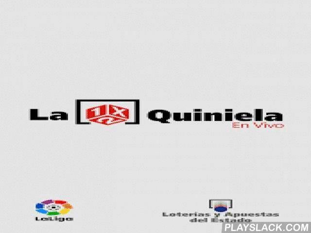 """La Quiniela En Vivo - Oficial  Android App - playslack.com ,  """"La Quiniela en vivo"""" es la aplicación oficial de la LFP y Loterías y Apuestas del Estado para el juego con más tradición del fútbol español. ¡Una nueva forma de vivir la quiniela!.- INTRODUCE Y GUARDA TUS QUINIELAS: Con esta aplicación puedes rellenar la Quiniela de la jornada, realizando apuestas simples o múltiples y tantas como quieras. - AYUDAS A LA ELECCIÓN: información relevante en cada partido para que te sirva de…"""