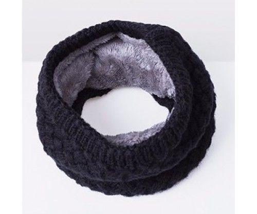 Dupla, bundás és kötött anyagú meleg csősál, nyakmelegítő télre