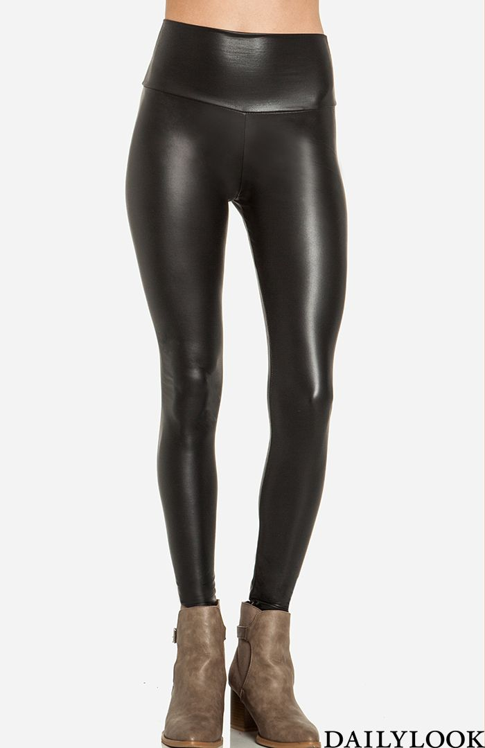 Dailylook Heigh Waist Faux Leather Leggings