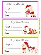 30 best gift certificates images on pinterest gift cards gift 3 printable christmas gift certificate templates on one page each in a different color yelopaper Images