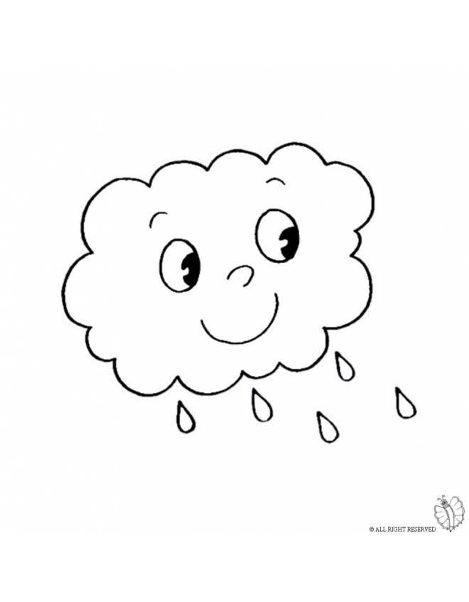 Disegno Nuvola Con Pioggia Disegni Da Colorare E Stampare Gratis