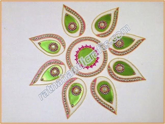 Rangoli floor design diwali decoration indian home decor for Indoor diwali decoration