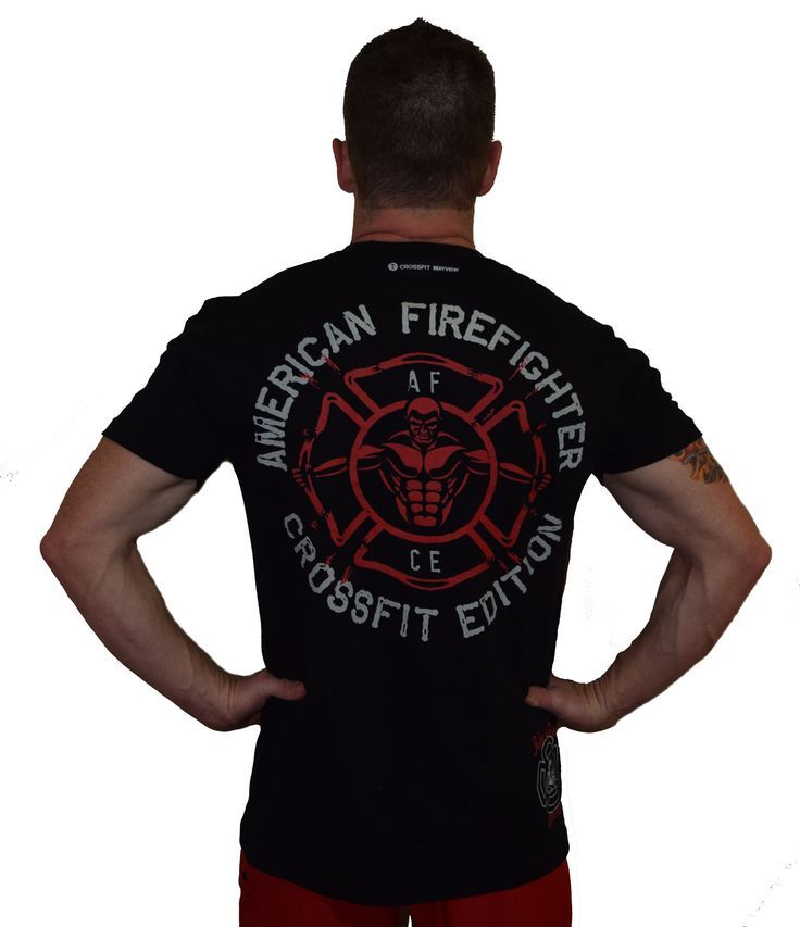 f4abc9009 Firefighter Crossfit t-shirt made with