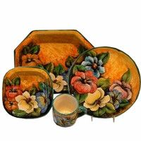 Colores Mayolica Pottery 4-Piece Place Setting