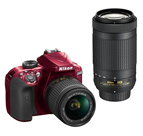 Nikon D3400 w/ AF-P DX NIKKOR 18-55mm f/3.5-5.6G VR & AF-P DX NIKKOR 70-300mm f/4.5-6.3G ED (Red)  Price: $596.95
