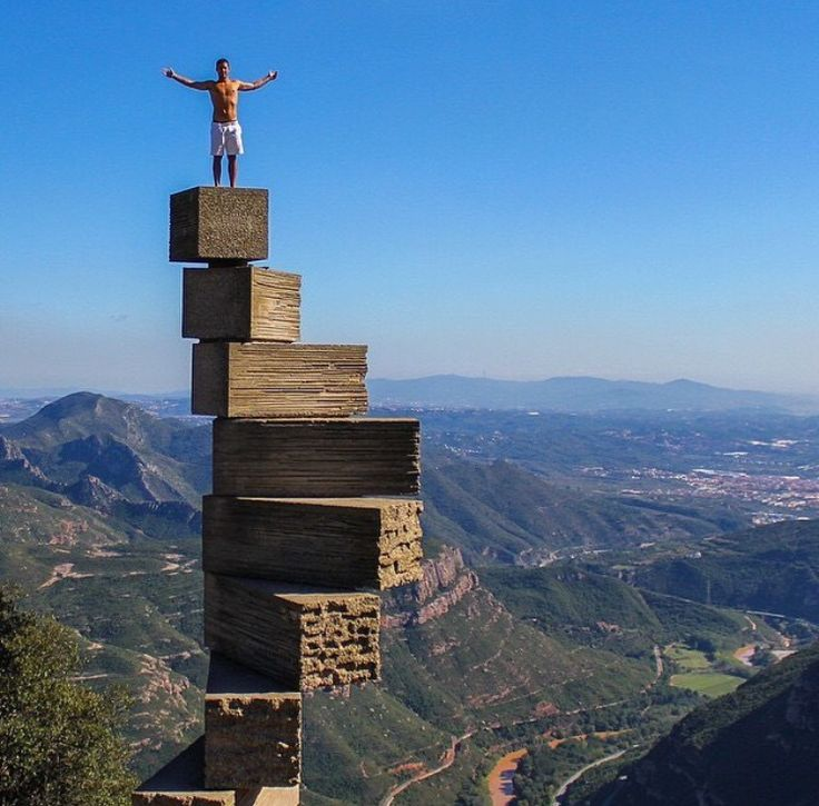 Montserrat, Barcelona, Spain. Not confident I could do this without fainting..