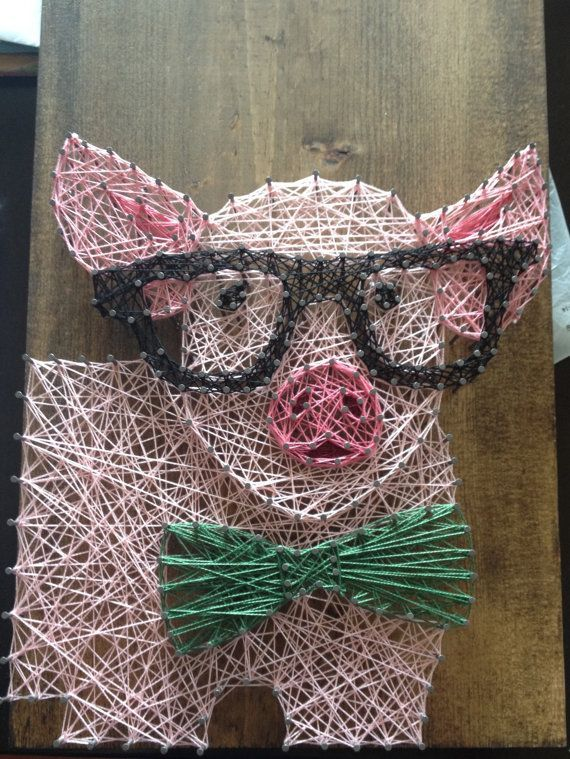 nice Pig String Art by www.nailartdesign...
