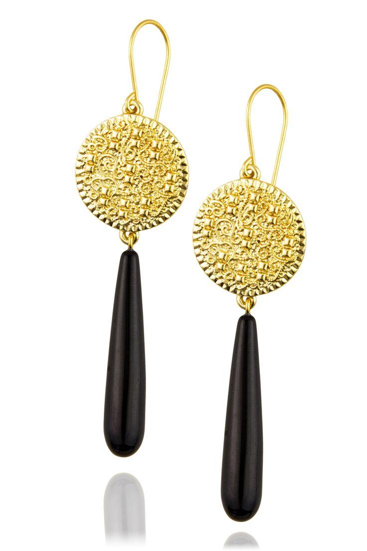 Arabesque Drop Earrings  Jet  Zefyr #prom