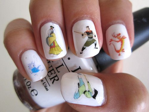 It's just not fair that some people have enough coordination for Mulan nails.