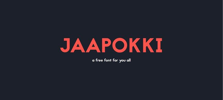 Шрифт Jaapokki бесплатно на seedraft.ru