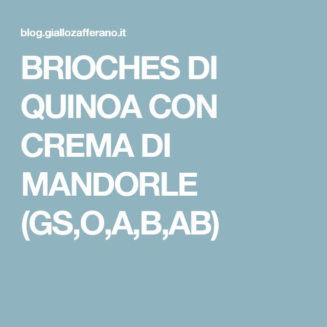 BRIOCHES DI QUINOA CON CREMA DI MANDORLE (GS,O,A,B,AB)