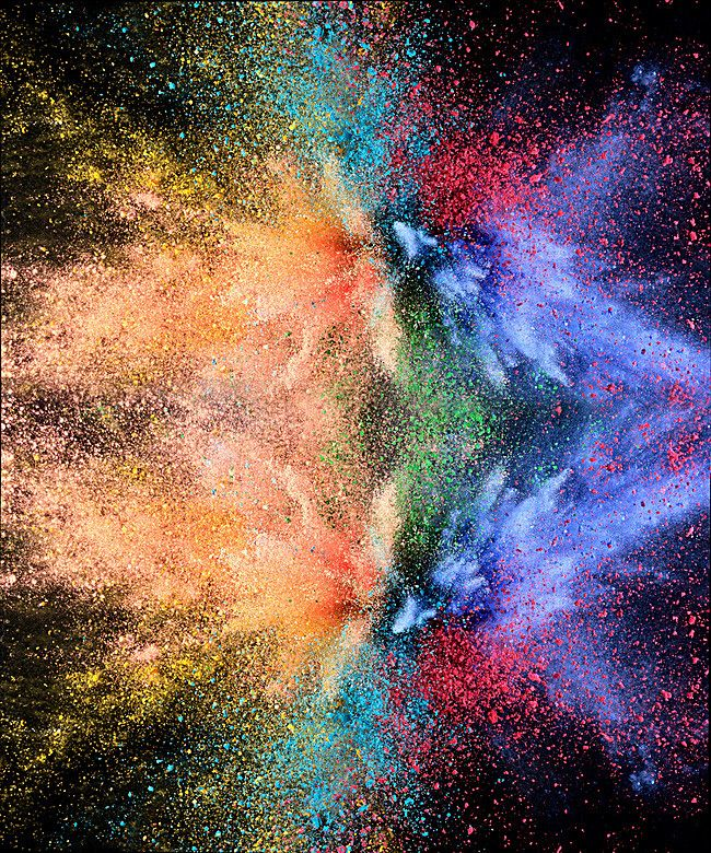 Explosión de fondo multicolor cool, Multicolor, Polvo, Explosión, Imagen de fondo