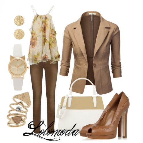 Camel jacket, see more here: http://lolomoda.com/smart-casual-outfit-trend-2014/