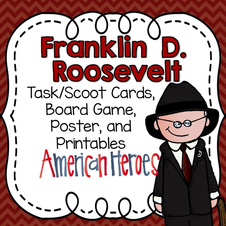 Franklin d roosevelt task cards board game posters and