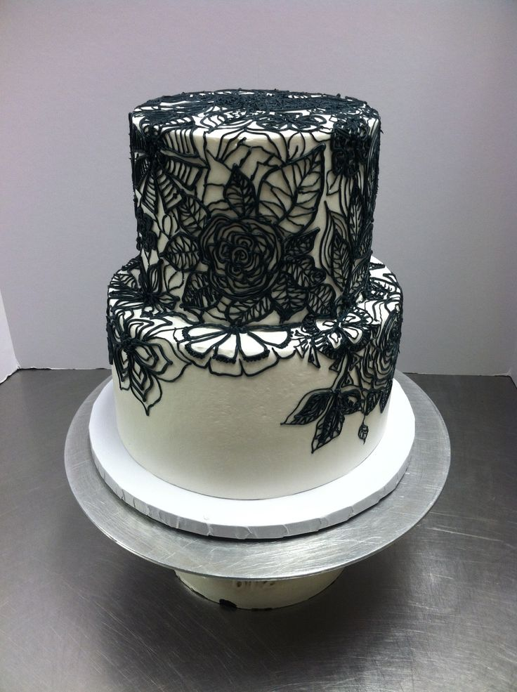 Black Lace Cake Luckytreats Lacecake Lucky Treats Cake