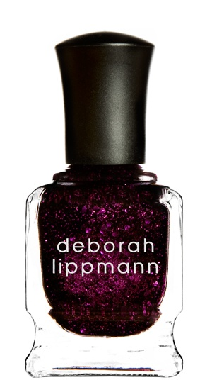Dark purple glitter polish from Deborah Lippmann