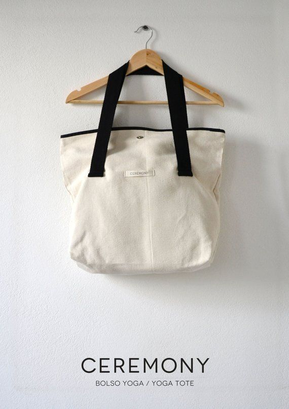 Yoga tote bag, Yoga mat bag, Canvas bag, Handmade shoulder bag, yoga ...