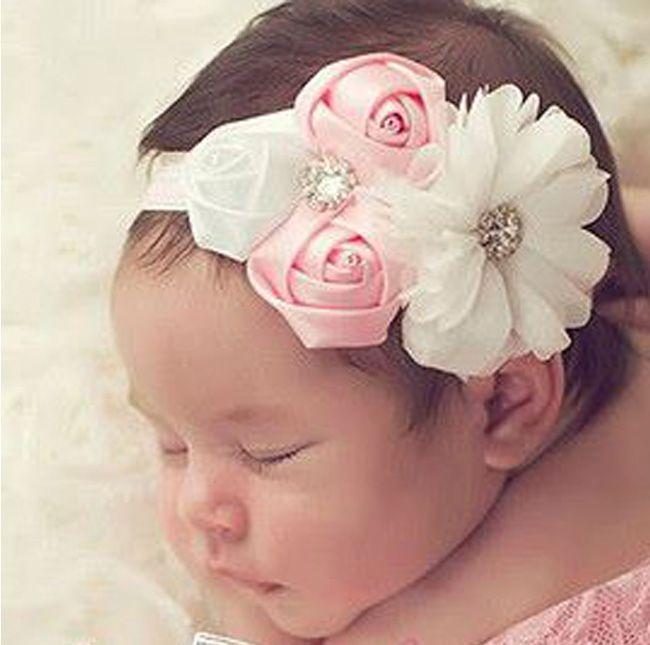 Hecho a mano diadema Haarbankd diadema flor niña bautizo