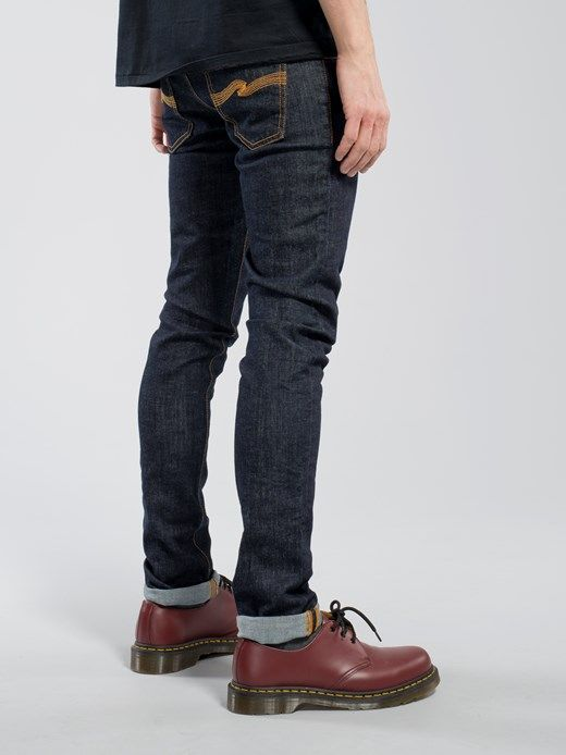 Tight Long John Twill Rinsed - Nudie Jeans Online Shop