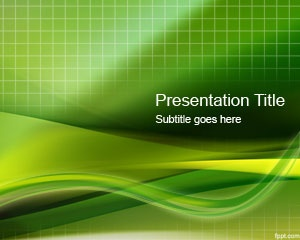 Green Grid PowerPoint Template is a free green abstract template with a grid in the background that you can free download as a PPT template file to use in your presentations