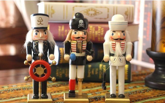 """12"""" Sailor Wooden Nutcracker Walnut Soldiers Mediterranean Christmas Decoration"""