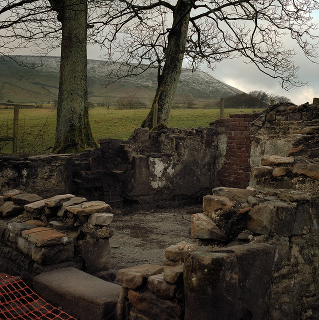 "Pendle witch cottage 500CM 3 by felixspencer2, via Flickr.  ""It is 400 years since the Pendle witch trials and although you may have thought that this site would have been preserved as a tourist attraction it is due for demolision very soon to make way for a reservoir overflow."""