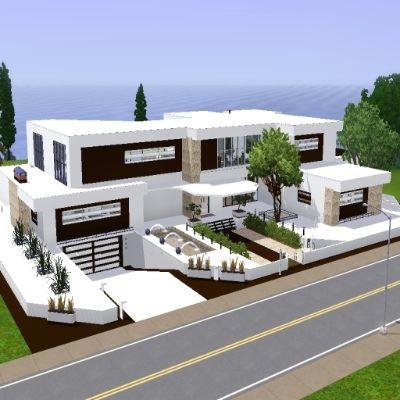 1000 bilder zu sims h user auf pinterest villas for Modernes haus sims 3